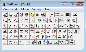CADTOOLS - schermata principale