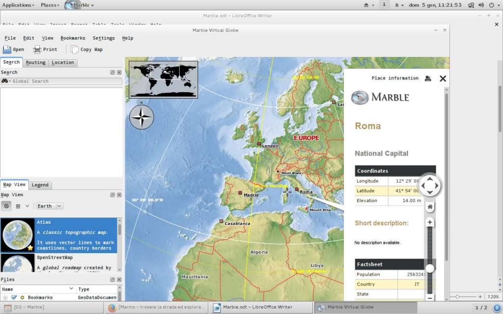 Marble: scheda di dati base