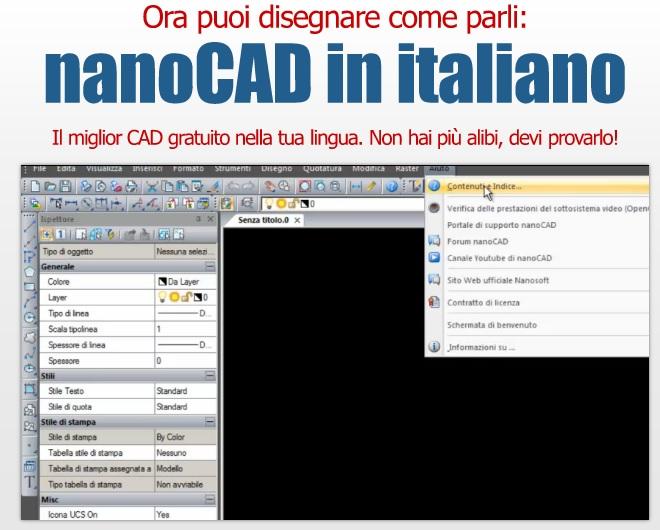 nanocad 5.0 in italiano