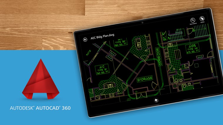 AutoCAD 360 banner dell'App Windows