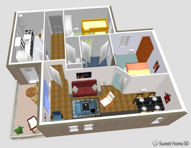 SweetHome3DExample3-AerialView