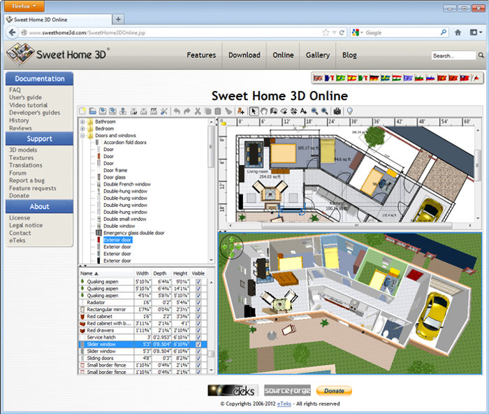 Sweet home 3d 5 1 garr 8 - Programma per progettare casa gratis ...