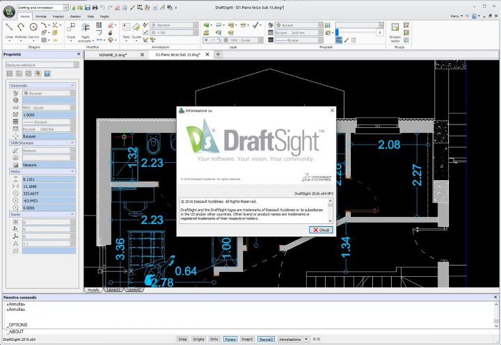 DraftSight 2016 SP2 su windows a 64 bit